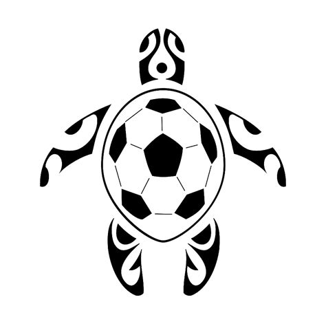 soccer tribal tattoos sea turtle soccer maybe hide initials and