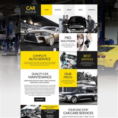 car workshop card template car repair templates templatemonster