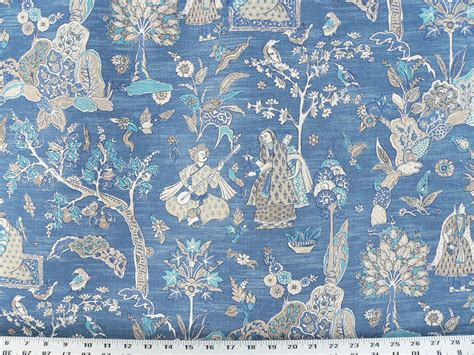 toile upholstery fabric drapery upholstery fabric 100 cotton asian toile blue