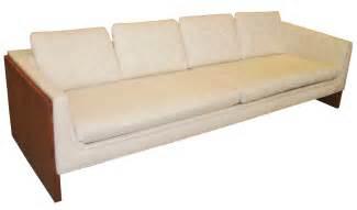 sleek low 1970 s mid century modern sofa