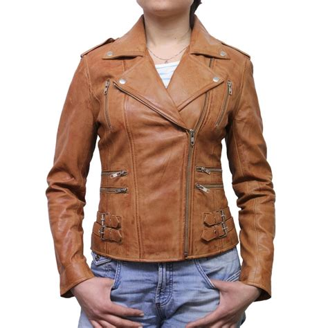 bike jackets for women ladies tan leather jacket www imgkid com the image kid