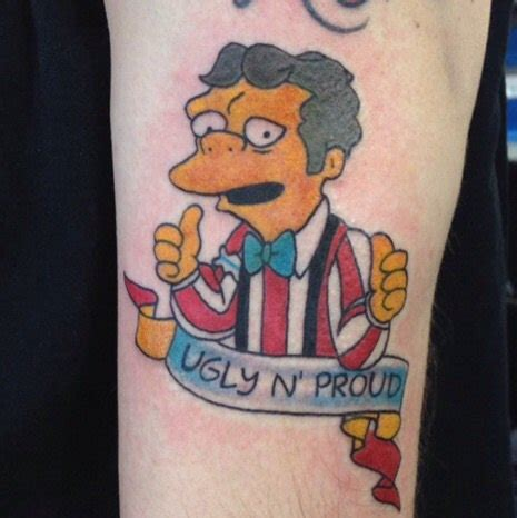 moe tattoo collection of the simpsons tattoos simpsons