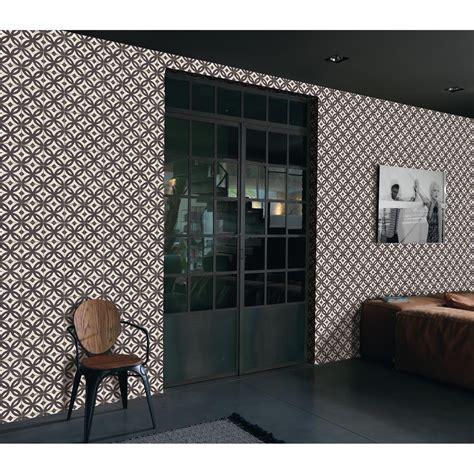 Tapisserie Noir by Papier Peint Intiss 233 Mosaique Noir Leroy Merlin