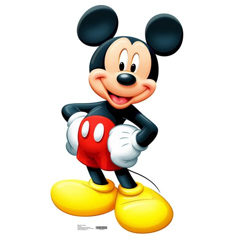 M Mickey advanced graphics mickey mouse size cardboard stand