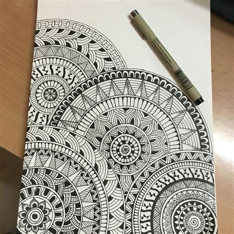 doodle circular pattern design very first mandala drawing mandala art pinterest
