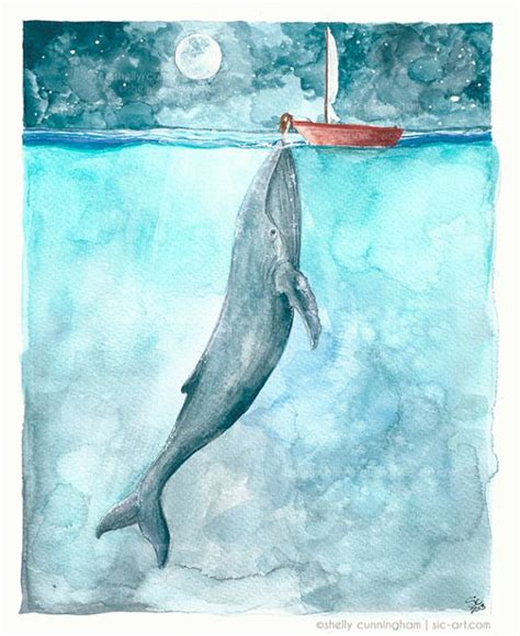 boat themed drawing of the seas watercolor illustration and watercolors on