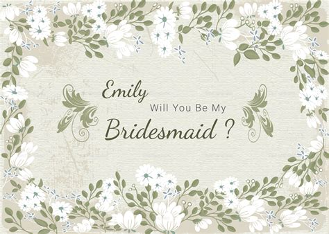 will you be my bridesmaid card word template vintage will you be my bridesmaid card template in psd
