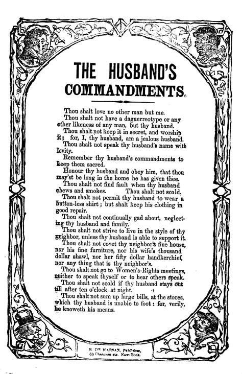 The husband's commandments. H. De Marsan, Publisher, 60