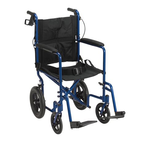maxiaids drive expedition aluminum transport chair blue