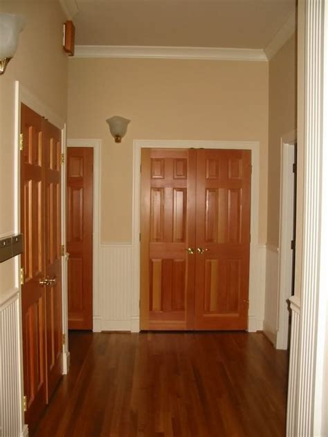 White Interior Doors With Stained Wood Trim How Our Interior Doors Would Look With Trim Painted White Home For The Home