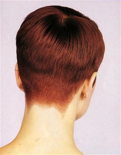 cropped hairstyles with wisps in the nape of the neck for pixie haircut clippered nape short pixie haircuts short