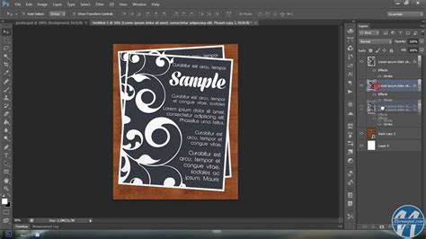 membuat contoh poster tutorial photoshop membuat poster youtube