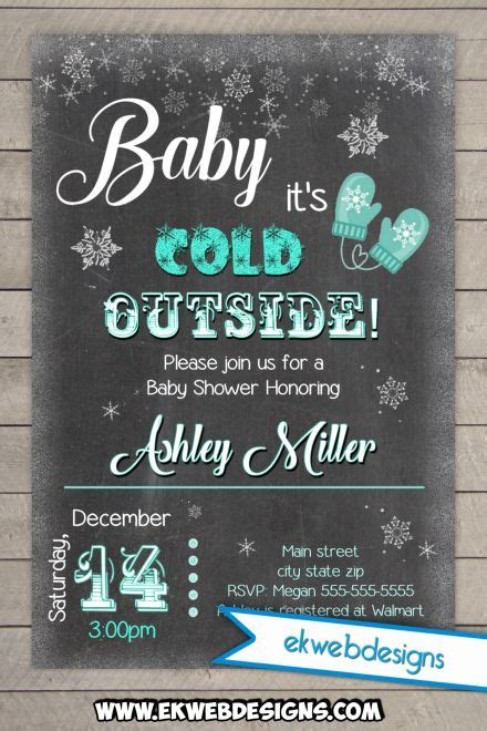 baby it s baby it s cold outside baby shower invitation printable