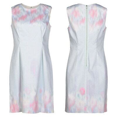 elie tahari soft sky blue watercolor pastel garden party holly sheath dress nwt ebay