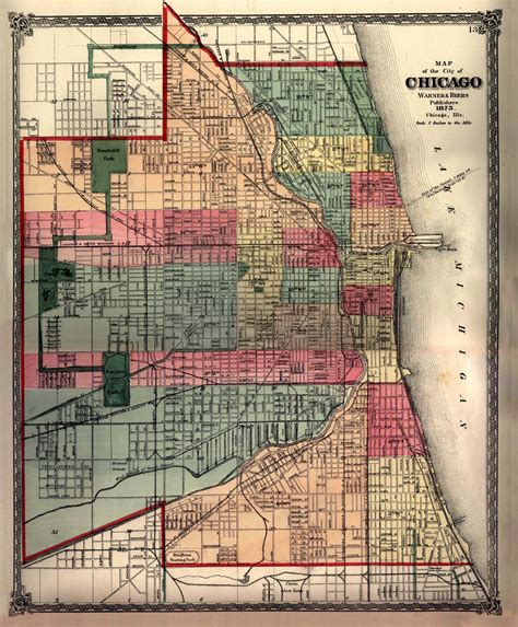 chicago map 1900 town chicago