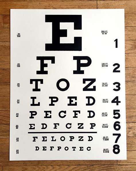 printable pocket eye chart eye chart art print poster by cyberoptix