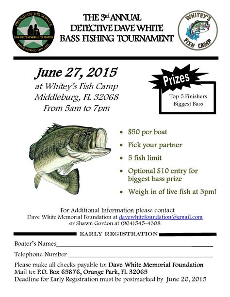 bass fishing tournament flyer www imgkid com the image