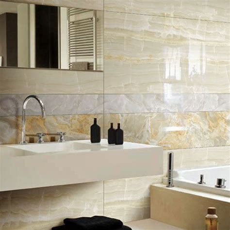 thin tiles for bathroom porcel thin marble effect polished porcelain clacier cream