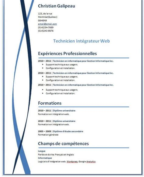 Cv Type Word Gratuit by 10 Best Resume Cv For Powerpoint Images On
