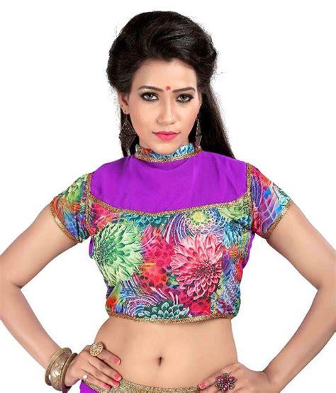 Jedar Blouse 2 N1 shreeji designer multicoloured satin blouses buy shreeji
