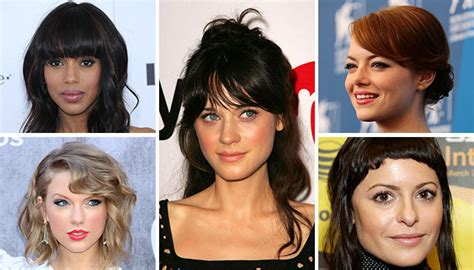 types of bangs and fringes with pictures 5 types of bangs and how to style them