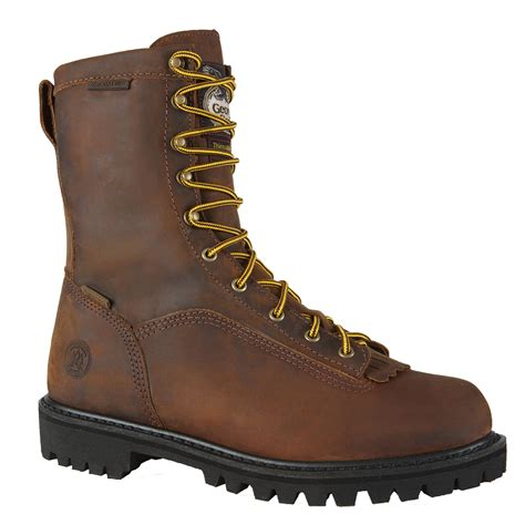 insulated work boots boot s 8 quot insulated waterproof low heel