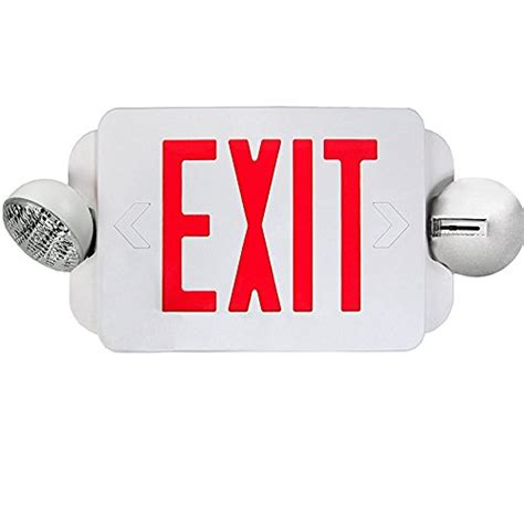 combination emergency exit sign and light with battery backup 120v etoplighting 2 packs of led red exit sign emergency light