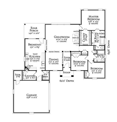 arlington house floor plan arlington 3097 3 bedrooms and 2 baths the house designers