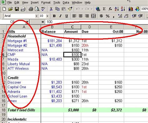 how to layout an excel spreadsheet make a personal budget on excel in 4 easy steps