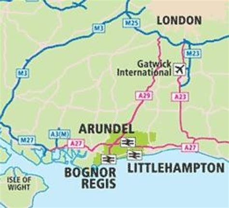 littlehampton/arundel map picture of yha littlehampton