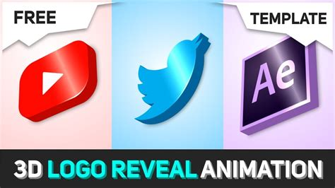 Free 3d Logo Animation Template After Effects No Third Party Plugin Template Tutorial 3d Logo Animation After Effects Template