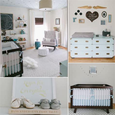 modern serene baby boy nursery popsugar moms