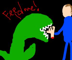 feed me seymore, feed me now! drawception