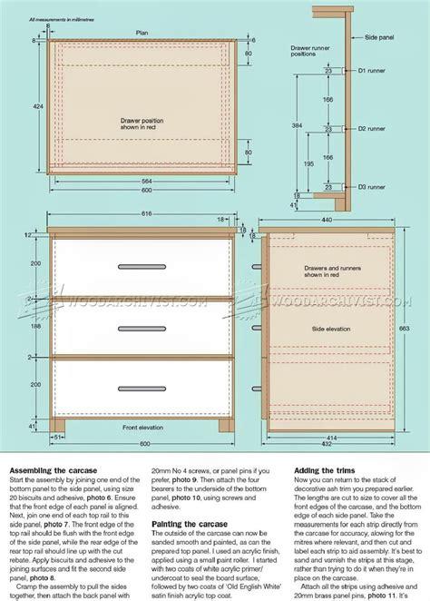 drawer plans woodworking three drawer chest plans woodarchivist