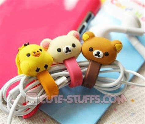 Cable Cord Holder Rilakkuma Hello Kity Centimental Circus Pengikatjepit Kabel Pembatas Buku Kawaii 2 Pc Cord Holder Sentimental Circus Mouton W