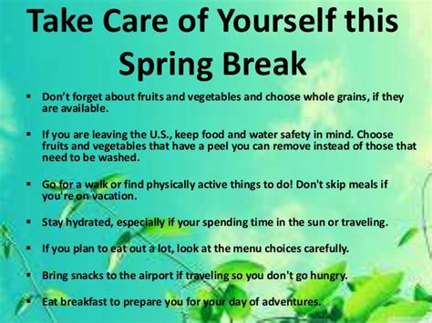 spring tips spring break tips