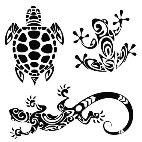 polynesian animal tattoo designs tribal designs turtle frog lizard tattoos piercings
