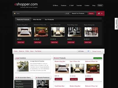 template joomla free ecommerce eshopper joomla template joomla e commerce template for