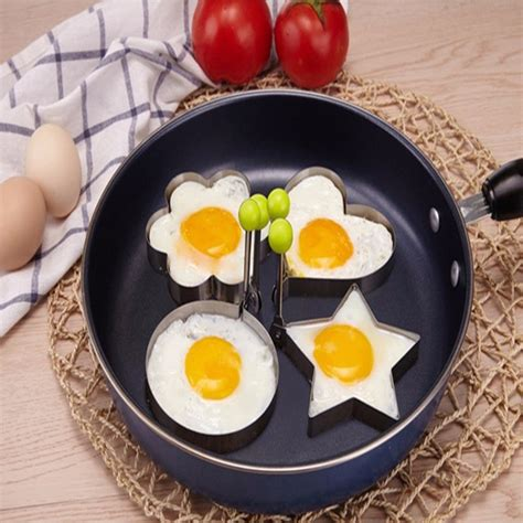 Stainless Steel Fried Egg Mold stainless steel fried egg mold pancake mold kitchen tool