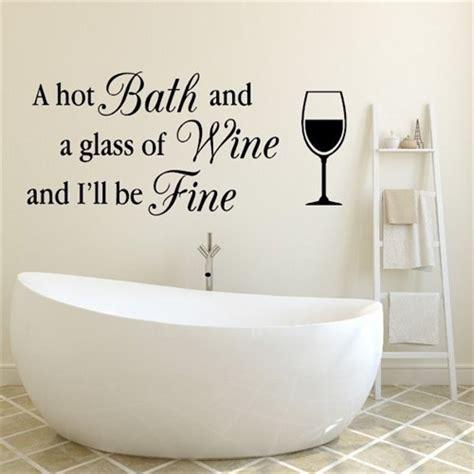 bath wall stickers bath and a glass of wine wallstickers wa1545 large