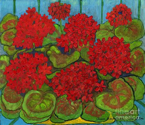 geranium by folkartanna maciejewska dyba