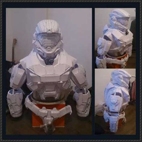 Papercraft Halo - halo noble six spartan b312 bust free papercraft