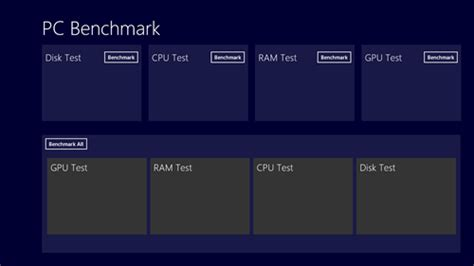 computer bench mark windows 8 app to benchmark system pc benchmark