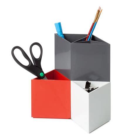Modern Desk Accessories And Organizers Rhombins Modular Desk Organizer Design Is This