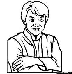 jackie chan coloring page free onlin sketch template