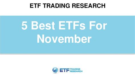 best etf 5 best etfs for november