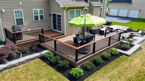 full backyard renovation deck patio  landscaping