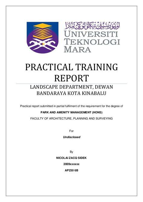 Practical Report Format