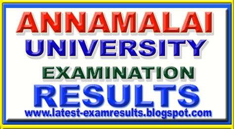 Annamalai Result 2017 Mba by Results 2017