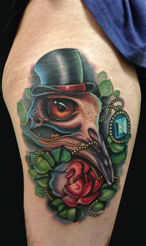 birdman head tattoo mike devries tattoos skull bird skull plus